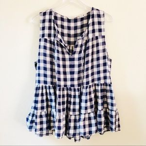 Anthropologie 11•1 Tylho Gingham Sleeveless Top XL